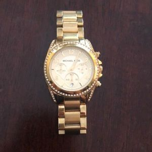 Gold and rhinestone Michael Kors watch